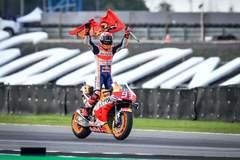 Márquez celebra su sexto título de MotoGP.