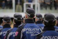 Policías municipales de Madrid.