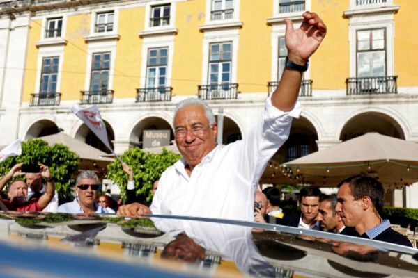 FILE PHOTO: Portugal's Prime Minister and Socialist Party candidate...