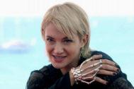 La actriz y directora italiana Asia Argento en el Festival de Sitges.
