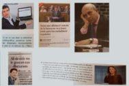Algunas de las fotografías y textos del libro de Bachillerato.