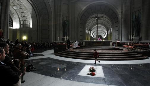 Interior de la Basílica de la Santa Cruz del Valle de los Caídos, en...