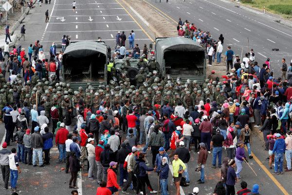Protests after <HIT>Ecuador</HIT>&apos;s President Lenin Moreno&apos;s...