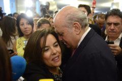 Fernández Díaz con la que fuera todopoderosa vicepresidenta, Sáenz de Santamaría.