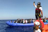 Rescate en aguas de Malta de un grupo de inmigrantes el pasado agosto.