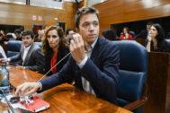 Íñigo Errejón, candidato de Más País, en la Asamblea de Madrid.