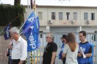 Manifestación de Acaip a las puertas de la cárcel de Castellón.