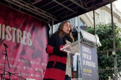 Montserrat Puigdemont en diciembre, cuando se celebró el Consejo de Ministros en Barcelona. Ella fue designada por los independentistas, ministra de Justicia simbólica y popular. Ese mismo día, el CDR que se había reunido con ella aprovechaba los altercados para probar su sistema clandestino de comunicaciones.