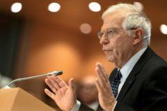 Josep  Borrell comparece en el Parlamento Europeo en Bruselas, Bélgica