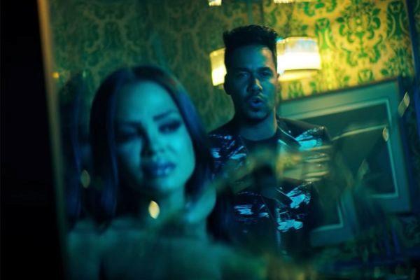 Natti Natasha y Romeo Santos en el vídeo de La Mejor Versión De Mí...