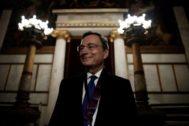 Mario Draghi, presidente saliente del Banco Central Europeo (BCE).