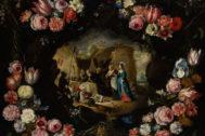 'Guirnalda con las tentaciones de San Antonio', de Brueghel el Joven.