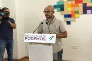 El secretario de Comunicación de Podemos Andalucía, Pablo Pérez Ganfornina.
