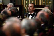 GRAF8720. MADRID.- El magistrado del Tribunal Supremo Manuel <HIT>Marchena</HIT> (c), durante el acto de la apertura del año judicial este lunes que preside el rey Felipe VI, en el Salón de Plenos del Tribunal Supremo.   POOL