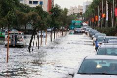 Inundaciones en la capital malagueña en octubre de 2017 tras una intensa tromba de agua.