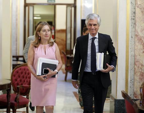 Los diputados Ana Pastor y Adolfo Suárez Illana, en el Congreso.