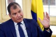 El ex presidente de Ecuador Rafael Correa, en Bruselas.