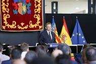 El presidente de la Generalitat, Ximo Puig, este martes en Orihuela.