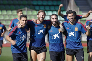 Navas, Ramos, Carvajal y Ceballos, en Las Rozas.