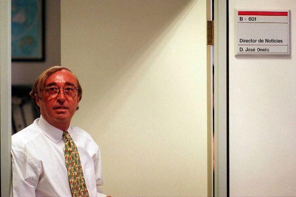 Oneto, cuando fue nombrado director de Informativos de Antena 3.