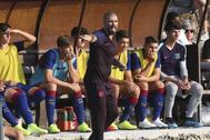 Víctor Valdés, en su etapa en el Juvenil del Barcelona.