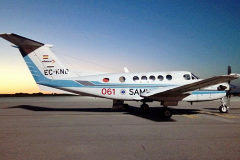 Uno de los B200 que prestan el servicio de transporte aéreo sanitario en Baleares.