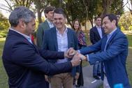 Juan José Cortés y Juanma Moreno Bonilla, en la presentación de las listas de las pasadas elecciones.