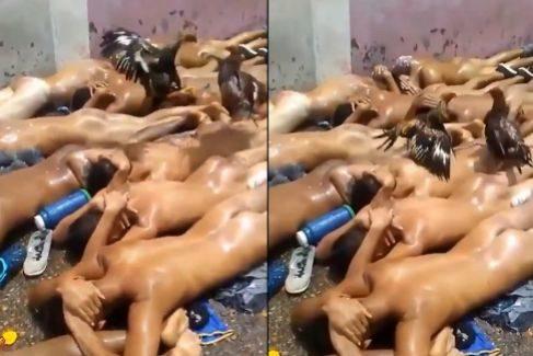 Imágenes extraídas de la grabación hecha dentro de la prisión de Anaco.