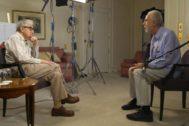 Woody Allen y Fernando Trueba en un momento de la conversación