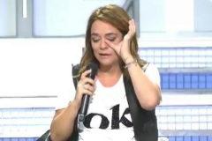 Toñi Moreno llorando al comienzo del programa MYHYV.