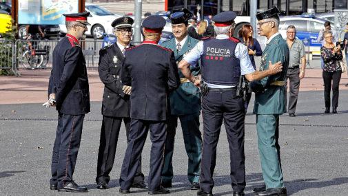 Altos mandos de la Policía Nacional, la Guardia Civil y los Mossos...
