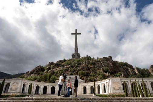 Imagen del monumento del Valle de los Caídos, en San Lorenzo de El...