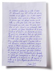 Carta manuscrita de José Luis