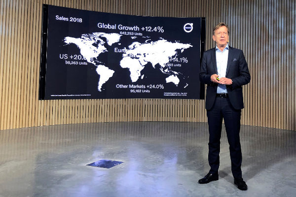 <HIT>Volvo</HIT> Cars CEO Samuelsson presents fourth quarter 2018...