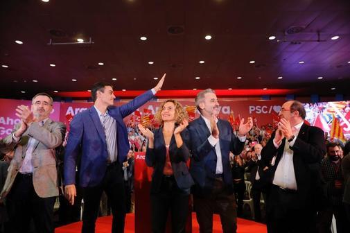 El secretario general del PSOE, Pedro Sánchez, en un acto, este...