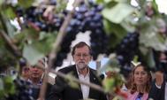 Mariano Rajoy, pregonero de las festa do Viño do Ribeiro de Lairo (Ourense).