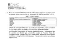 Extracto de la resolución de la CNMC sobre lo que se considera el acta fundacional del cártel en 2001 y que operó al menos hasta 2017. Se acordó por unanimidad subir los precios y que haya «absoluta confianza» en la trama.