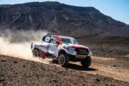 El Toyota de Alonso, durante el Rally de Marruecos.