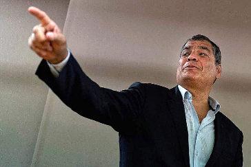 El ex presidente ecuatoriano Rafael Correa.