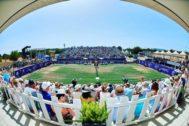 Imagen de la pista balear, durante el torneo WTA.
