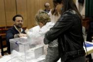 Mesa electoral en las anteriores elecciones generales