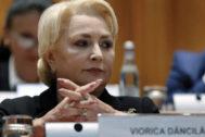 La primera ministra rumana, Viorica Dancila.