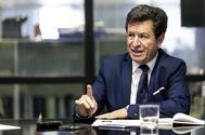 Alberto Di Lolli. 10/10/2019, Madrid. Entrevista al embajador de Ecuador en Espana, <HIT>Cristobal</HIT> <HIT>Roldan</HIT>