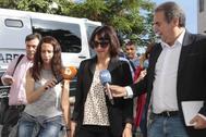 Juana Rivas, a su llegada a los juzgados de Granada en junio de 2018.