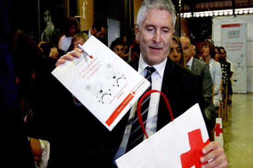 El ministro del Interior en funciones, Fernando Grande-Marlaska, ayer,...
