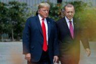 El presidente de EEUU, Donald Trump, con su homólogo turco, Recep Tayyip Erdogan.