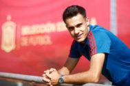 09//10/2019.Foto Javier Barbancho.Las Rozas Comunidad de Madrid. Sergio <HIT>Reguilón</HIT> en La ciudad del futbol con la selección española