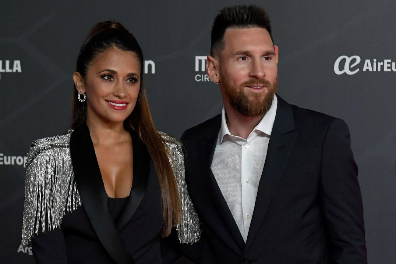 Lionel  Messi y su mujer, Antonella Roccuzzo.