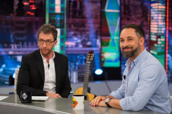 Santiago Abascal junto a Pablo Motos en El Hormiguero