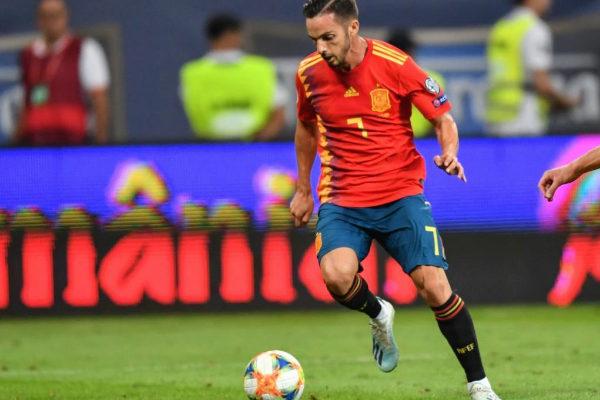 Pablo Sarabia con la selección española de fútbol